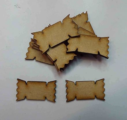 wooden craft xmas crackers shapes, laser cut 3mm mdf embellishment, decoupage,